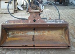 Łyżka skarpówka hydrauliczna na szybkozłącze Verachtert CW 05